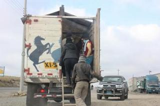 マカ収穫へ人を運ぶトラック10.JPG